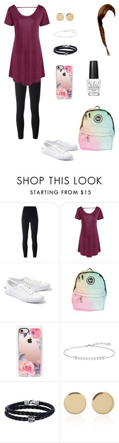 """""""Nothing Special"""" by my-volleyball-world ❤ liked on Polyvore featuring adidas Originals, Lacoste, Casetify, Thomas Sabo, Phillip Gavriel, Magdalena Frackowiak and OPI"""