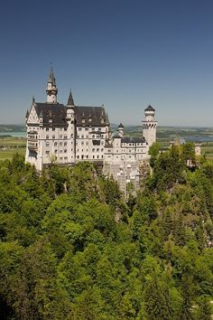 Neuschwanstein Castle, Bavaria, Germany. Inspiration for the Disney castle. My mom's been here, and I really want to go.