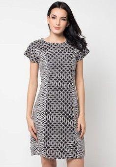 35 Model Dress Batik Modern Masa Kini 2018 048f3394ab