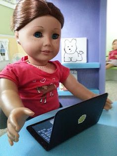 Fun with AG Fan: Craft How to Make a Doll Laptop