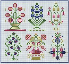 This Pin was discovered by ZÜB Basic Embroidery Stitches, Vintage Cross Stitches, Cross Stitch Embroidery, Embroidery Patterns, Hand Embroidery, Weaving Patterns, Easy Crochet Patterns, Cross Stitch Designs, Cross Stitch Patterns