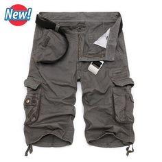Cargo Shorts Men Hot Sale Casual Camouflage Summer Brand Clothing Cotton Male Fashion Army Work Shorts Men Plus Size 29-40