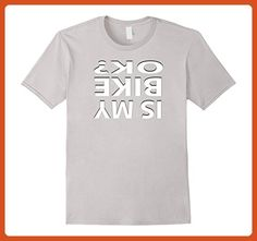 Mens Is My Bike Ok Funny Cycling BMX Stunt Crash T Shirt Small Silver - Sports shirts (*Partner-Link)