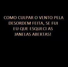 #desordem #culpa #vida