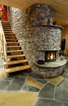 large-natural-tone-textured-fireplace-mantel-built-understairs.jpg (594×919)