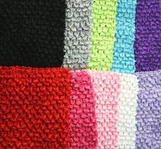 "Crochet 8"" Headband - Use for making tutu dresses. Available in 21 colors and on sale for $0.99 each!"