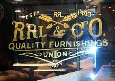 Glass Gilding gold leaf window lettering NYC Bob Gamache 23k gold ...