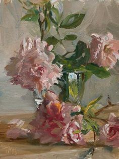 Roses A Daily painting by Julian Merrow-Smith