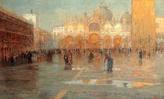 Pietro Fragiacomo - Piazza San Marco nach dem Regen
