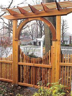 Wood Arbor Plans | When A Garden Arbor Is More Than A Garden Arbor