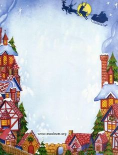 Christmas Stationery - Santa's Sleigh