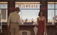 Jack Vettriano Daytona Diner painting for sale online outlet, painting - $3,000.00 Authorized official website