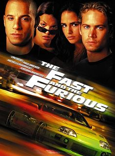 The Fast and The Furious (2001). Official movie poster. Vin Diesel, Paul Walker, Michelle Rodriguez, Jordana Brewster.