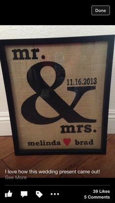 Cute wedding gift idea!