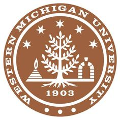 Western Michigan University Broncos seal. He graduated at WMU with his bachelors degree.
