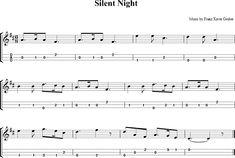 Silent Night Sheet Music for Dulcimer - http://dulcimermusic.org/music/silent-night/