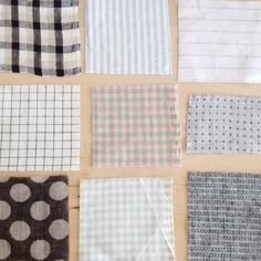 linen fabric swatches // rennes