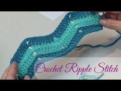 Crochet Zig Zag Pattern Crochet Ripple Stitch Chevron Or Zig Zag Punto Zig Zag Crochet, Zig Zag Crochet Pattern, Stitch Crochet, Chevron Crochet, Crochet Chain, Crochet Blanket Patterns, Knit Crochet, Tutorial Crochet, Learn Crochet
