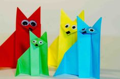 Еasy origami for kids. Оrigami Fox. Origami instructions for kids. Origa...