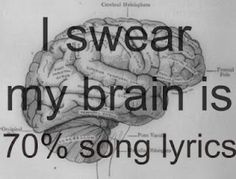 Being a musician for so many years...well, yeah.  This is true!