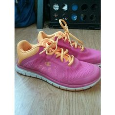 Pink running shoes Comfy running shoes . Good for excersizing . Worn twice . Need to get rid of them so make offers . Shoes Athletic Shoes