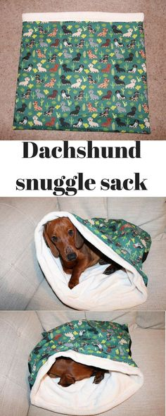 Snuggle sack for your favorite #dachshund or other small dog or cat #ad