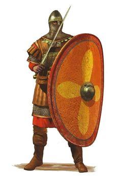 Scutatoi Thorakophoros; Byzantine heavy infantry; 10-11 AD