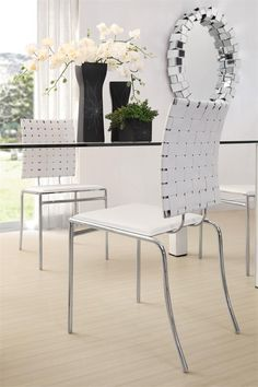 Criss Cross Dining Chair in White - Set of 4 - Homeclick Community