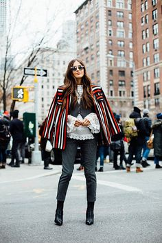Street style New York Fashion Week, febrero 2016 © Icíar J. Carrasco