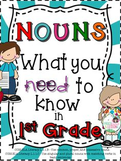Comprehensive resource! This product consists of 18 practice worksheets that target the Common Core AKS for Nouns in First Grade, a Literacy Center, and Editable Templates. Meant to be used throughout the year as practice and review.