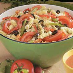 Greek Pasta Salad Recipe | Taste of Home Recipes