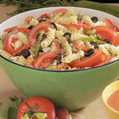 Greek Pasta Salad Recipe | Taste of Home Recipes