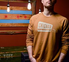 Win a Chicago Music Exchange Crew Neck Sweatshirt in Camel. Ends 3/18. #Sweepstakes