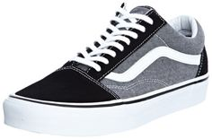 Vans Old Skool (Suede & Chambray Black) Mens Skate Shoes Vans http://www.amazon.com/dp/B00EIP0IZA/ref=cm_sw_r_pi_dp_pswJub0KYRT94
