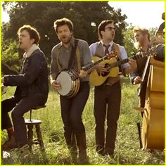 "Jason Bateman, Will Forte, Ed Helms, and Jason Sudeikis star in the music video for Mumford & Sons' latest single ""Hopeless Wanderer."""