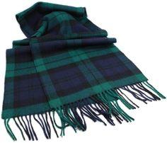 Biddy Murphy Irish Wool Scarf x Lambswool Scarf Made in Ireland Black Watch Tartan Sherlock Scarf, Tartan Plaid Scarf, Red Plaid, Mens Cashmere Scarf, Types Of Hats, Wool Cape, Fall Scarves, Neck Scarves, Pashmina Scarf