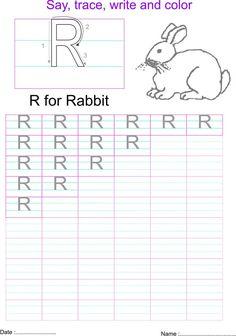 English capital letter R worksheet Letter V Worksheets, English Worksheets For Kids, Preschool Worksheets, Alphabet Writing, Kindergarten Math, Bee, October, Parenting, Paper Crafts