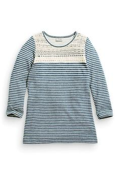 Buy Navy Stripe Sweat Dress With Lace (3-16yrs) online today at Next: Portugal