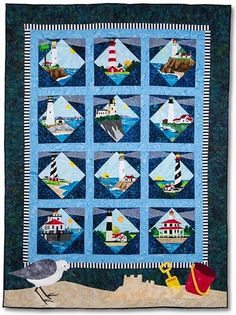 Lighthouses Block-of-the-Month - Includes Pre-cut & Pre-fused Appliqués