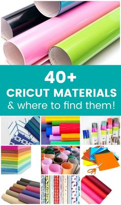 The Best Materials for Cricut Explore and Cricut Maker Machines. Find out what materials the Cricut machine can cut beyond just paper and vinyl! Cricut Heat Transfer Vinyl, Cricut Vinyl, Cricut Air, Cricut Stencils, Jar Crafts, Diy And Crafts, Homemade Crafts, Summer Crafts, Bottle Crafts