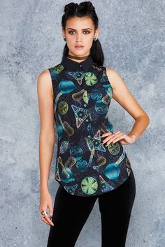 Marine Microbes Business Time Shirt - LIMITED ($80AUD) by BlackMilk Clothing