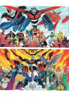Artwork by Ken Ishikawa Robot Illustration, Illustrations, Robot Cartoon, Japanese Superheroes, Cool Robots, Mecha Anime, Super Robot, Robot Art, Comic Artist