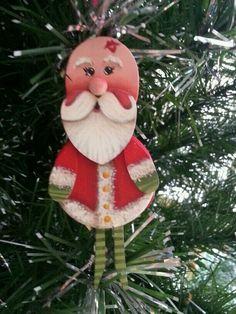 Handmade Clothespin Woodsies Ornament