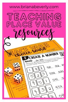 Place value math activity bundle for 2nd grade. Hundreds, Tens, and Ones activities, task cards, work sheets, and crafts, all centered around the Common Core Place Value standards for 2nd grade. Fun, engaging math resources for second graders. Place Value Activities, Fun Math Activities, Primary Resources, Primary Classroom, Place Values, Center Ideas, Task Cards, Math Centers, Back To School