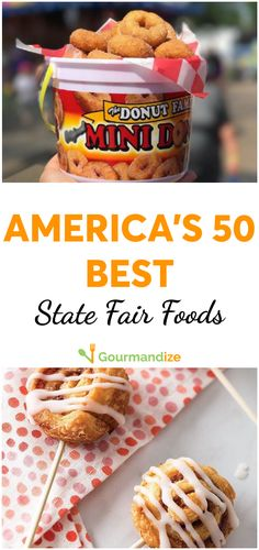 From fried foods to greasy goodies, here are the best fair foods in every state! Carnival Eats Recipes, Carnival Food, State Fair Party, State Fair Food, Food Trucks, Food Concept, Concept Cars, Fair Foods, Food Truck Design