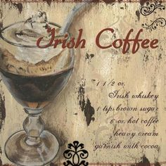 Irish Coffee for dessert? Always a fun consideration for those who enjoy a little something extra in their after dinner drink. Looks good even without the alcohol. Irish Coffee, Coffee Wine, I Love Coffee, Coffee Art, Hot Coffee, Coffee Shop, Vintage Coffee, Vintage Tea, Old School Pictures
