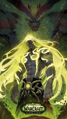 Dota Warcraft, Warcraft Legion, Warcraft Art, World Of Warcraft Game, World Of Warcraft Characters, Fantasy Characters, Fantasy Warrior, Fantasy Art, Final Fantasy