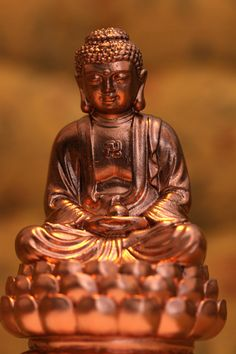 Buddha Statue Meditating on Lotus flower. Yoga, Zen, Meditation Room Sculpture, Antique Copper. Concrete Decor. Desk accessory/accessories by PJCreationCrafts on Etsy