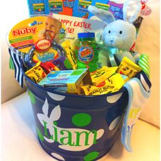 Deegans first easter basket baby toddler boy first easter basket babies 1st easter books food bubbles bib keys rattle and more information more information easter basket for 1 year old boy negle Image collections