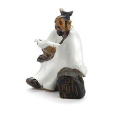 Mud Man with Book. This is a miniature figurine perfect for a Zen garden, an Asian themed fairy garden, or for an indoor or outdoor display from Georgetown Home & Garden. Miniature Zen Garden, Mini Zen Garden, Desktop Zen Garden, Fairy Garden Supplies, Holding Baby, Fairy Garden Accessories, Miniature Figurines, Mud, Lion Sculpture